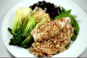 Sea Bass With Bok Choy And Almonds